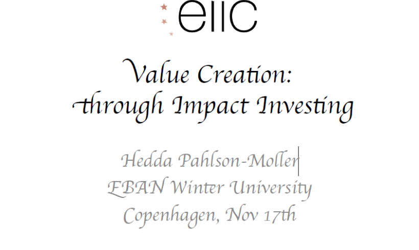 Value Creation Through Impact Investing